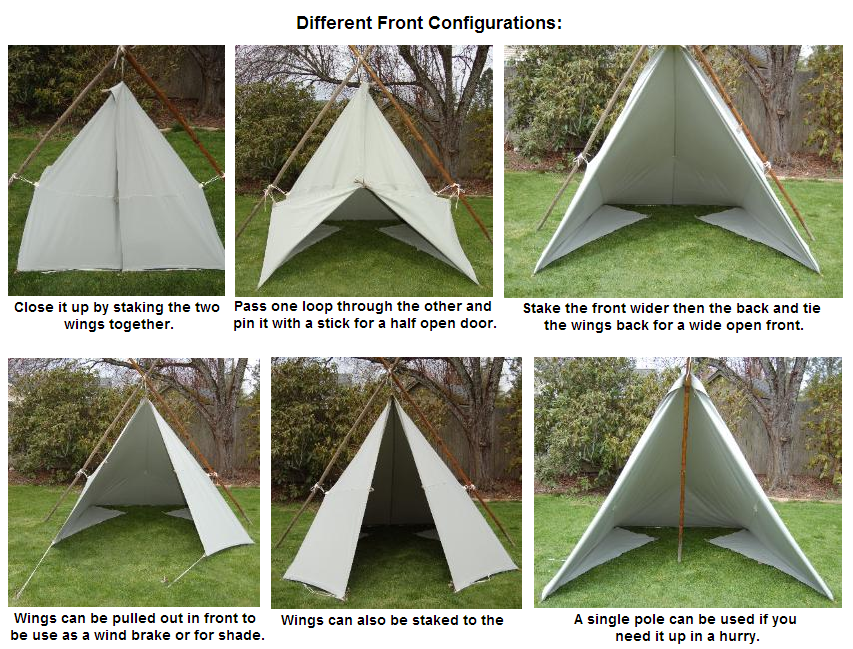 Tarp Tent Set Up Configurations Tent Tarp Shelters Tent Set Up