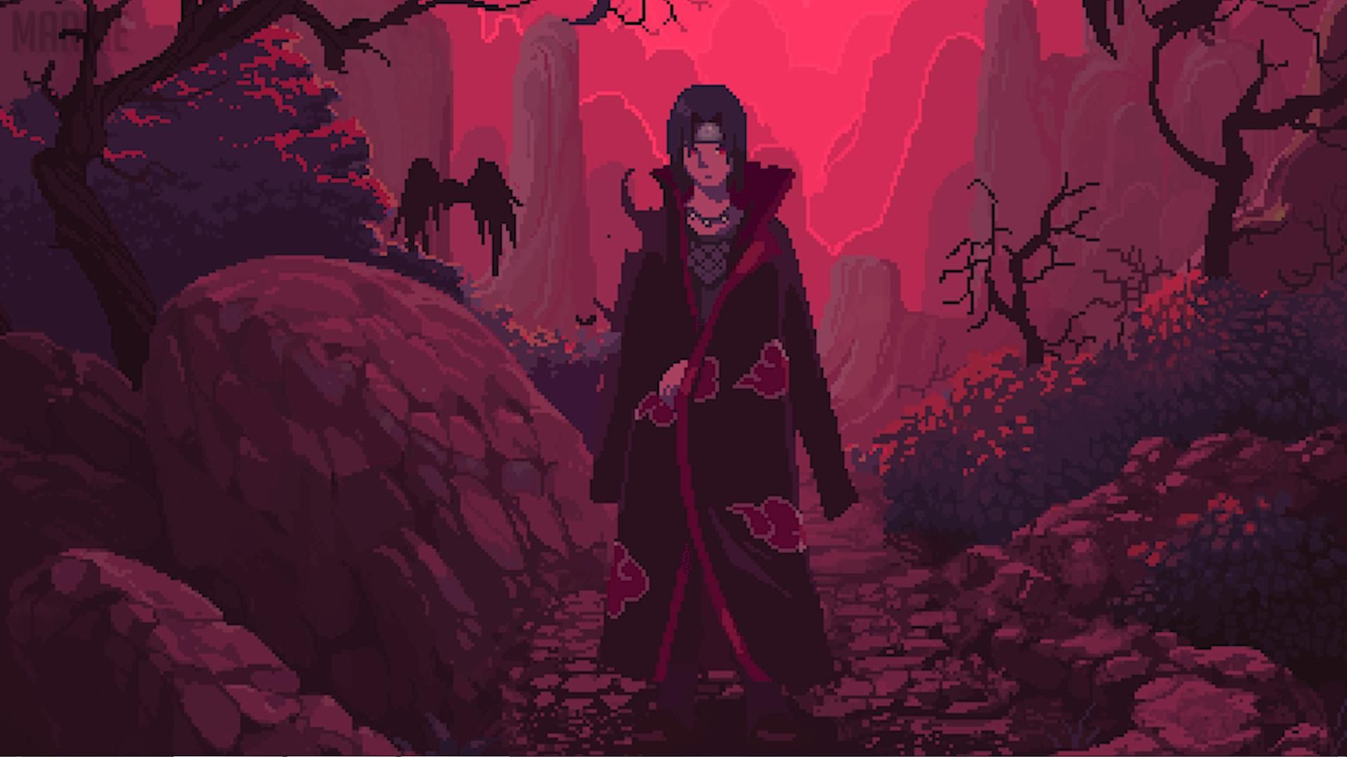 Itachi Uchiha Many Nights (Without Music) wallpaper for
