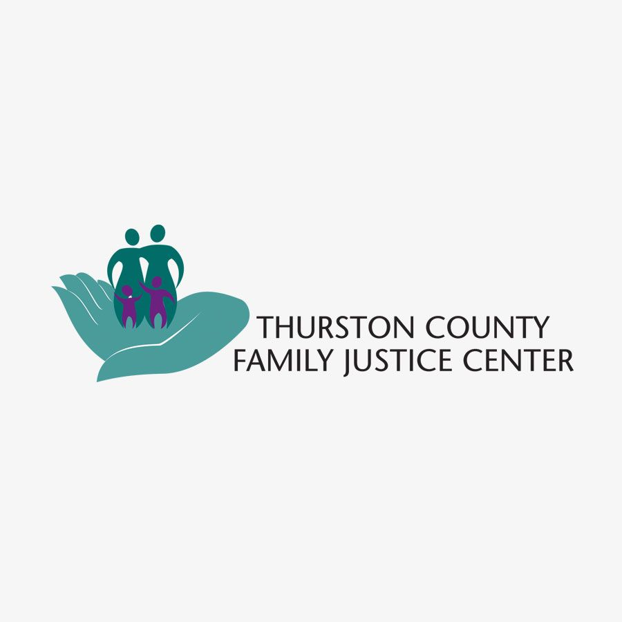Logo for thurston county family justice center justice