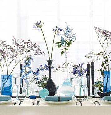 Blue vases. Home Decoration