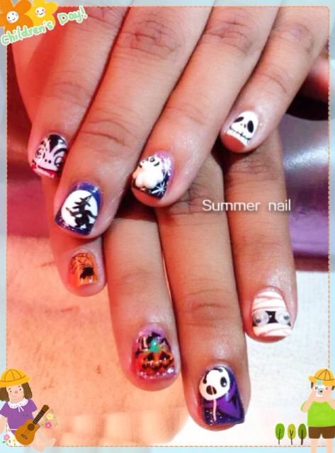 Yuri Halloween Gel Nail Design Gel Classic Manipedi Nail Design