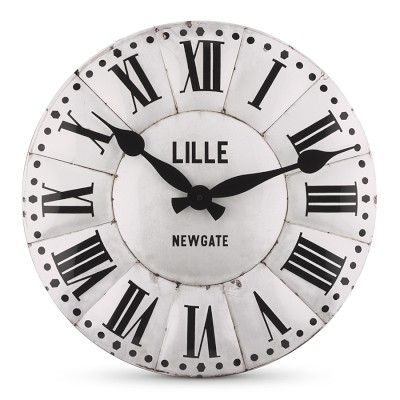 I Love The Lille Wall Clock On Williamssonoma  Williams Extraordinary Small Wall Clock For Bathroom Inspiration Design