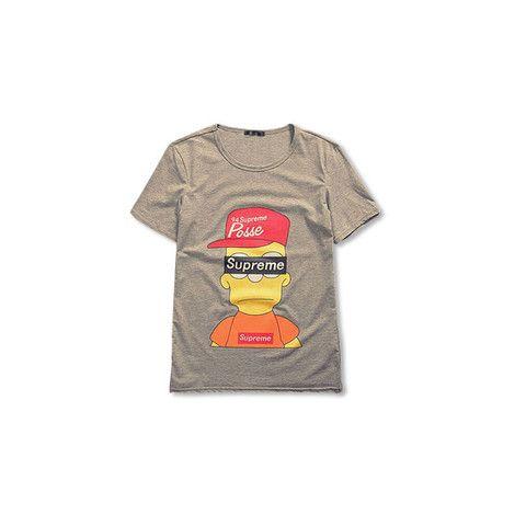 db92f5567e41 Bart Simpson x SUPREME T-Shirt   Fashion   Men, Mens fashion:__cat__ ...