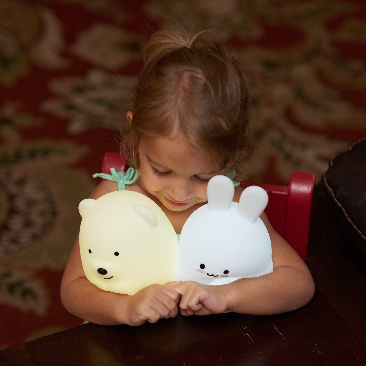 Led Nursery Night Lights For Kids Lumipets Cute Animal Silicone