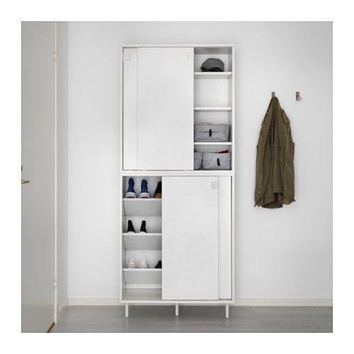 Mackapär Ikea kenkien säilytys Eteinen Pinterest Ikea hack - Küchen Weiß Hochglanz
