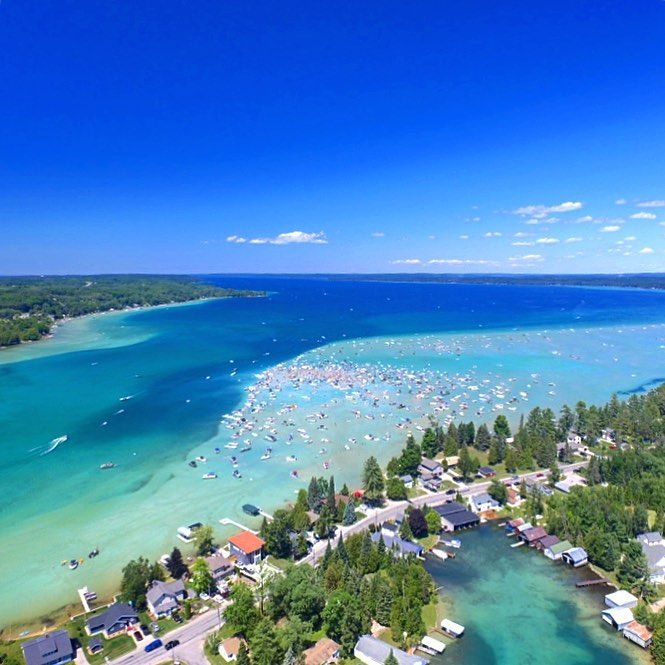 torch lake is michigan s own slice of the caribbean retirement rh pinterest com