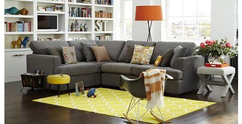 The Freya Right Hand Facing 2 Piece Corner Sofa In Graphite Housebeautiful Co Uk Sofa Styling Corner Sofa Furniture