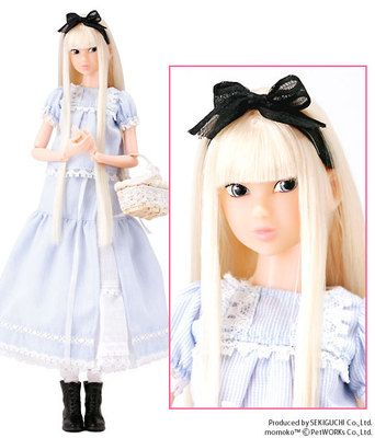 """Momoko ~ """"Baby Blue Labryinth"""" ~ reminiscent of 'Alice in Wonderland'"""