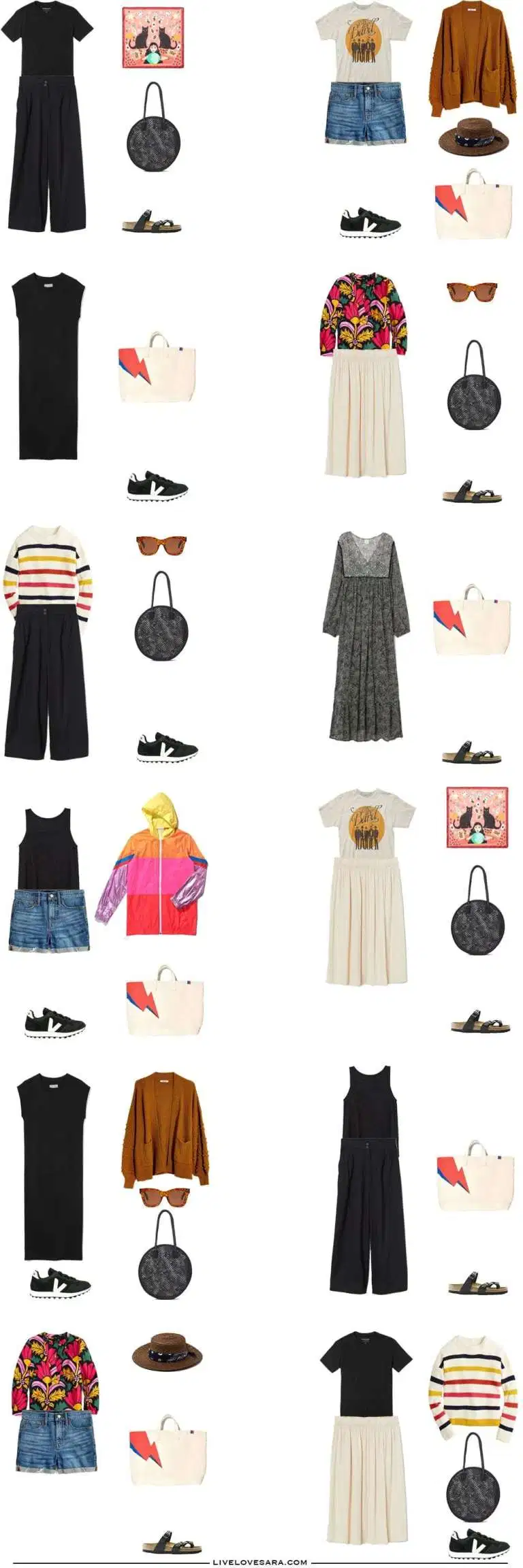What to Pack for Summer - Packing Light #travelwardrobesummer