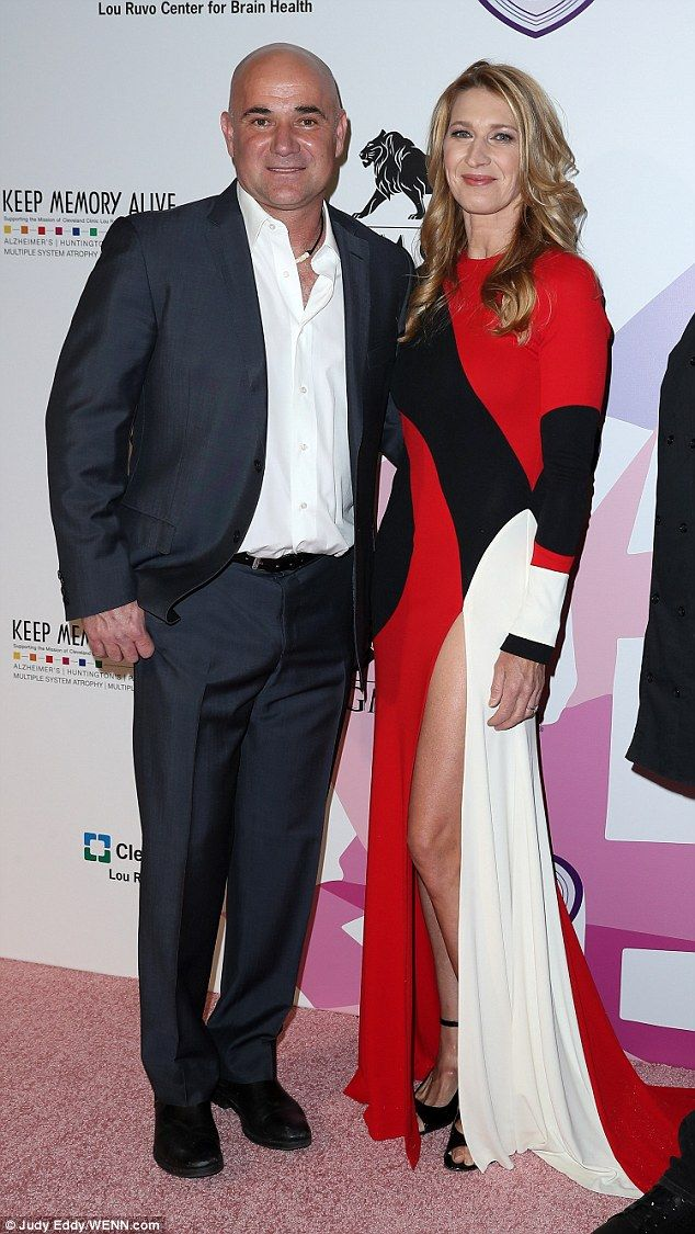 Steffi Graf Makes Rare Red Carpet Appearance With Husband Andre Agassi Andre Agassi Steffi Graf Style