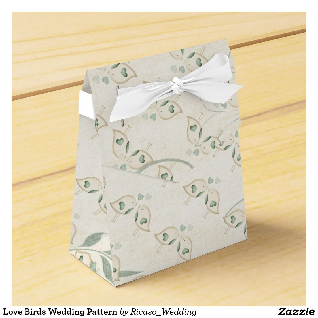 Love Birds Wedding Pattern Party Favor Box | Wedding : Favor Boxes ...