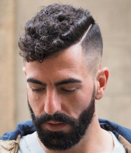 Curly Top With Hard Part Long Hair Styles Men Hair Styles Mens Hairstyles
