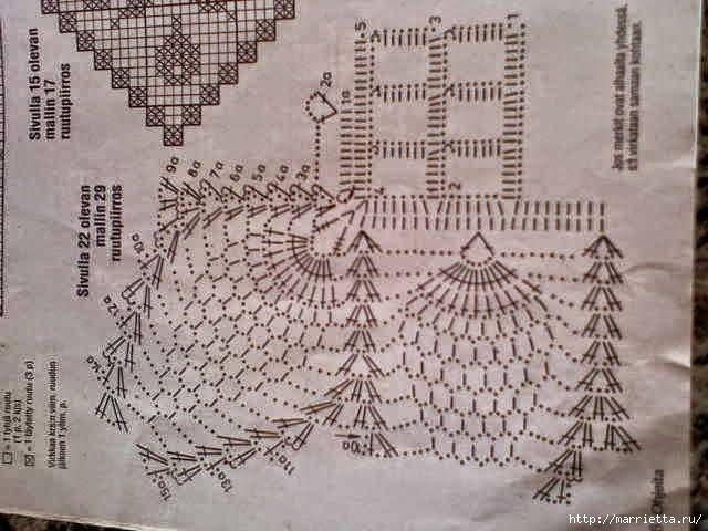 Mantel o carpeta rectangular tejida al crochet - con esquema y ...