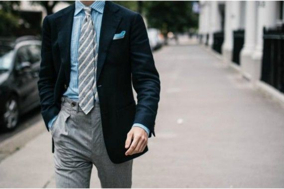 Grey Flannel Trousers with Green Blazer | Get the look at The Idle Man | #StyleMadeEasy