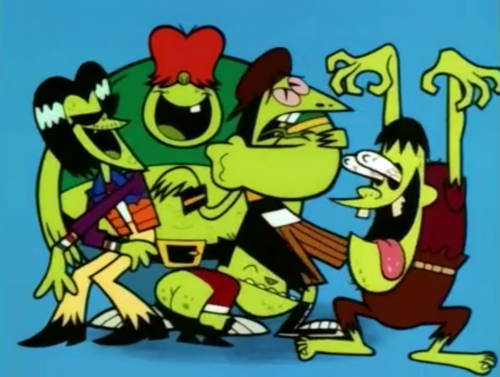 ... I never considered the gang green gang to be all that bad... although the guy with the weird eyes and tongue hanging out always freaked me out