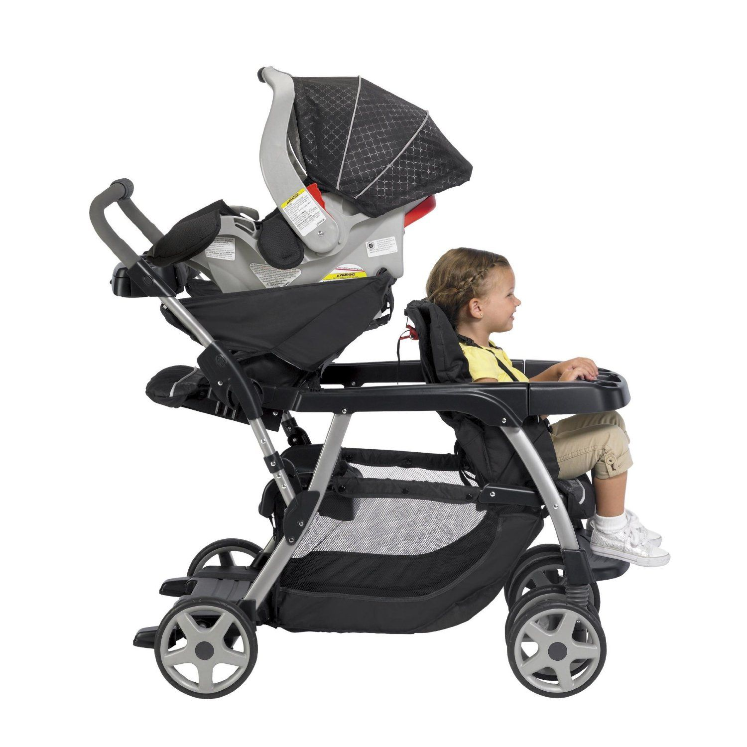 Lightweight Twin Pram Graco Ready2grow Stand And Ride Stroller Features