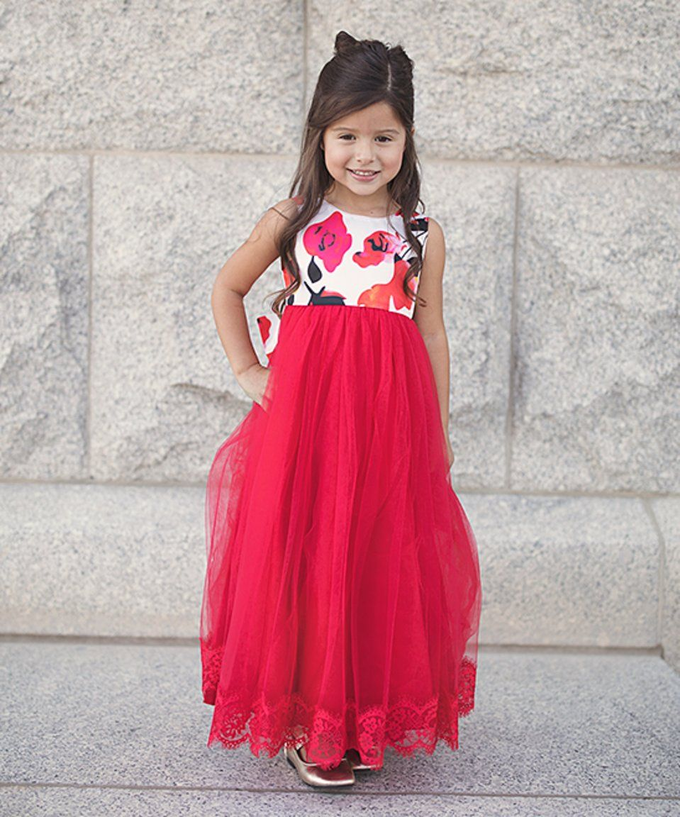 c1d193630dbf Take a look at this Red & White Floral Lucinda Maxi Dress - Toddler & Girls  today!