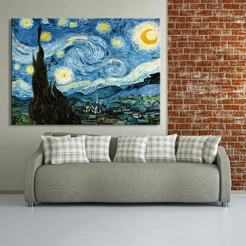 Vincent Van Gogh The Starry Night Poster Classic Art Canvas Print Nordicwallart Com Starry Night Gogh The Starry Night Poster Wall Art