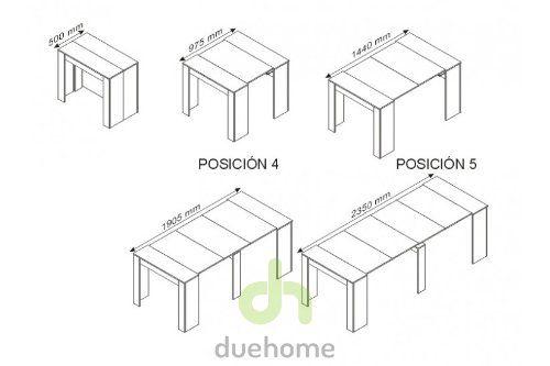 amazon.es: habitdesign 004580bo - mesa de comedor extensible