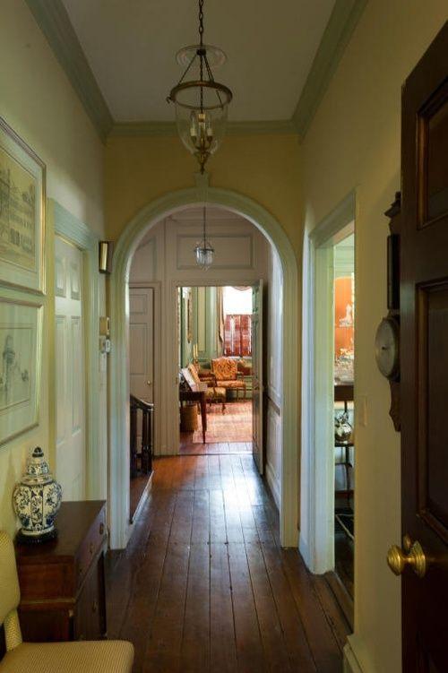 Old School Charleston Townhouse Foyers Entries Halls