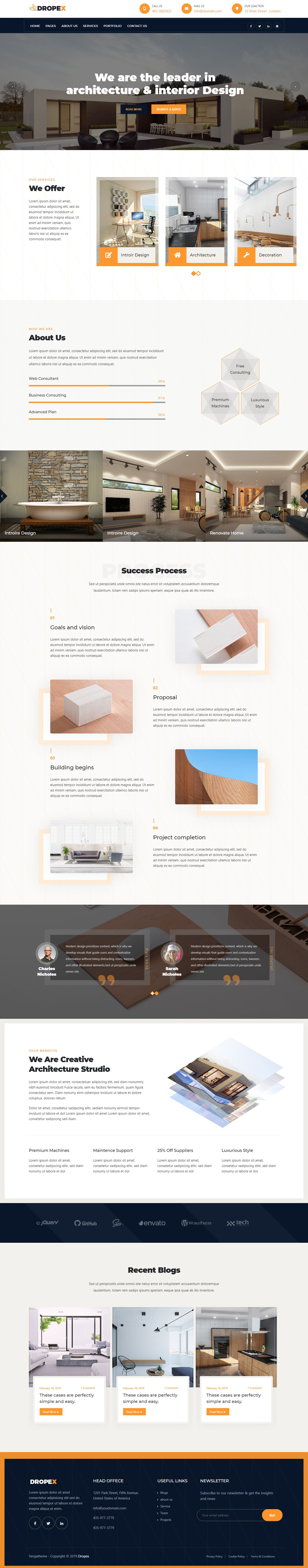 Business Construction & Architecture WordPress Theme
