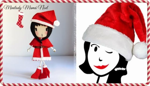 Broche Minilady Mamá Noel