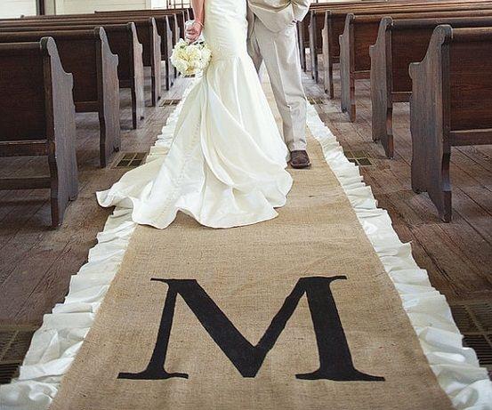 M Aisle Runner Wedding Blog