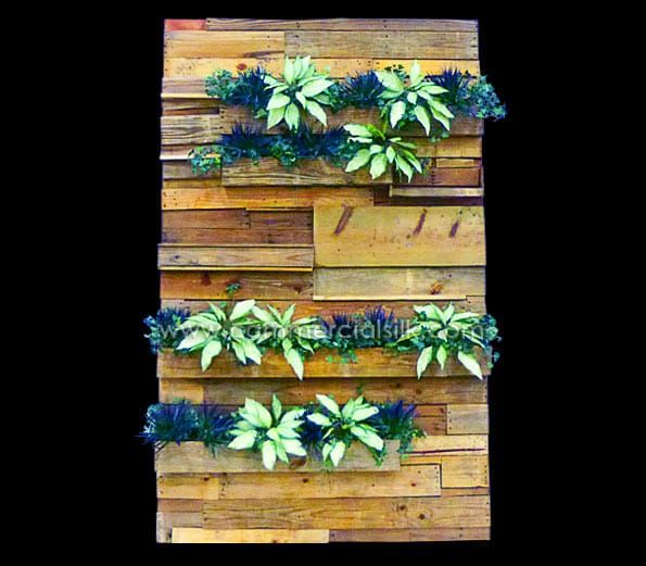 architectural wall panels green wall design on interior using artificial boxwood panels with flowers id=79027