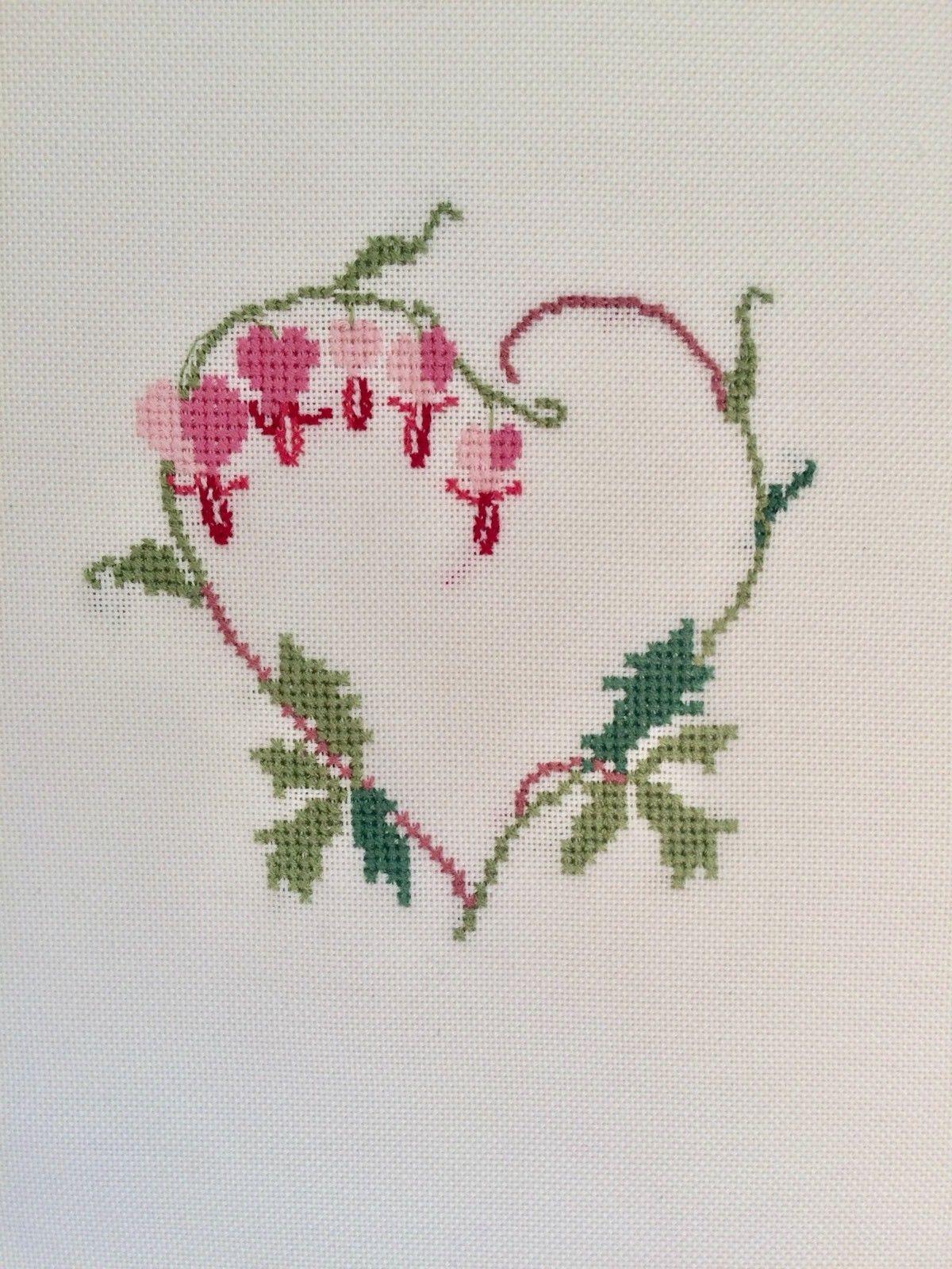 Bevorzugt 🌸 Stickbild Tränendes Herz Christiane Dahlbeck Frühling Ostern GG45