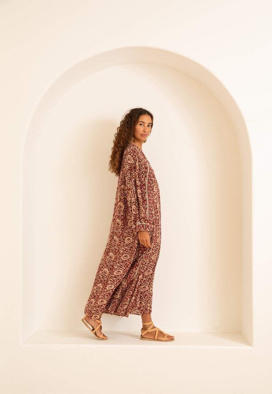Natalie Martin Fiore Maxi Favorite Dress Effortless Chic Batik Prints [ 1280 x 886 Pixel ]