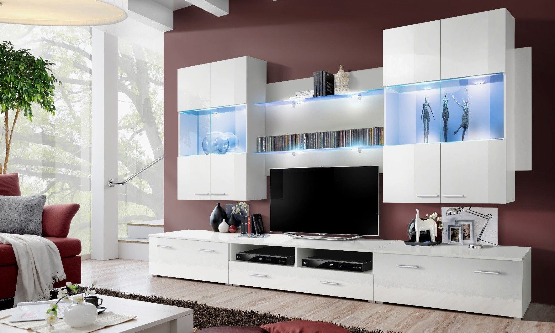 R Sultat De Recherche D Images Pour Meuble Tv Royaledeco Deco  # Mrublr Blanc Laque