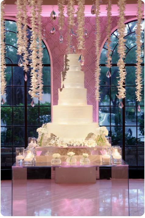 beautiful cake & display area