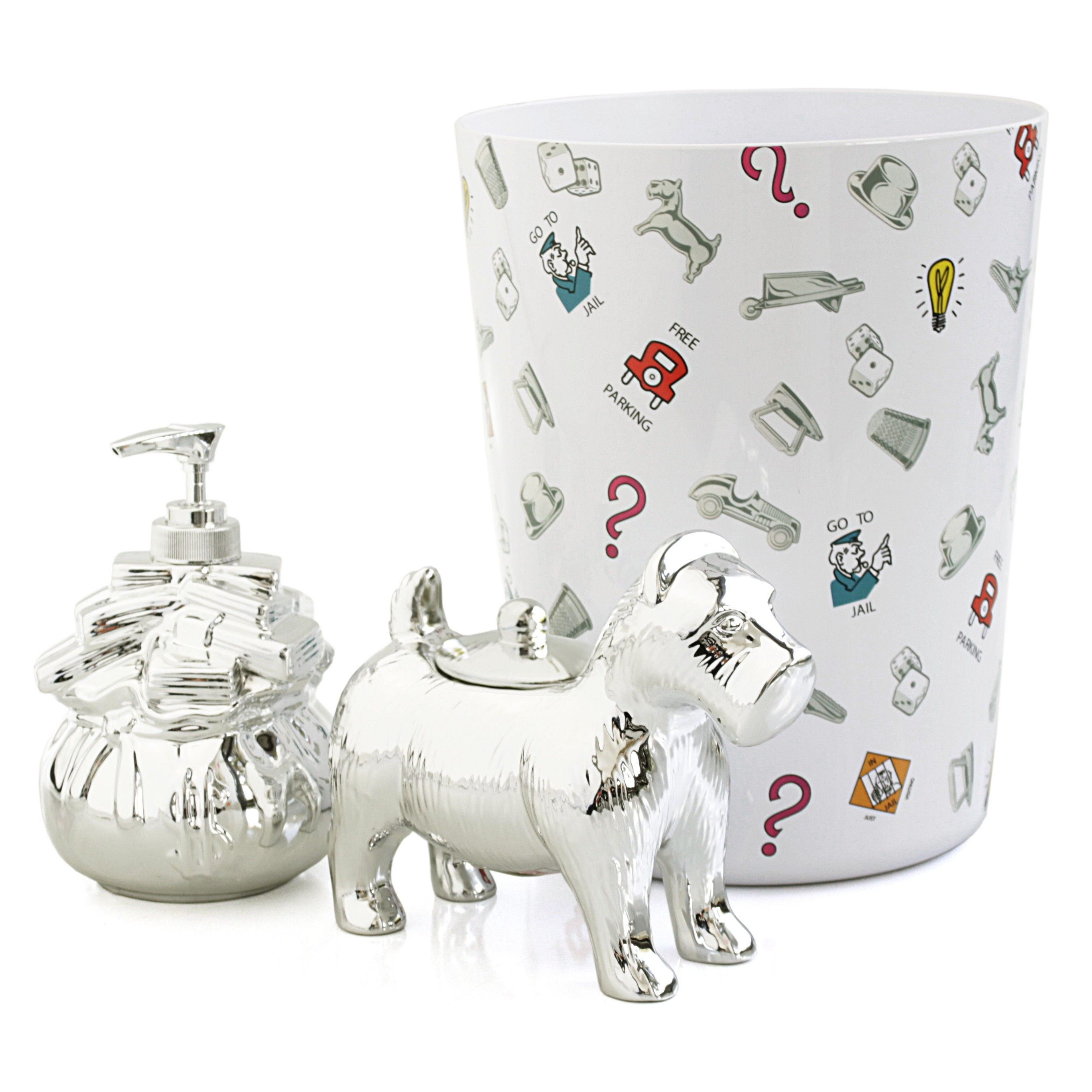 Retro Monopoly 3 Piece Bathroom Accessory Set From Bigkitchen 35