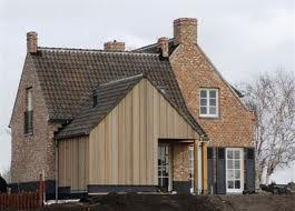 Kempische woning met houten aanbouw kempische en for Moderne aanbouw aan klassiek huis