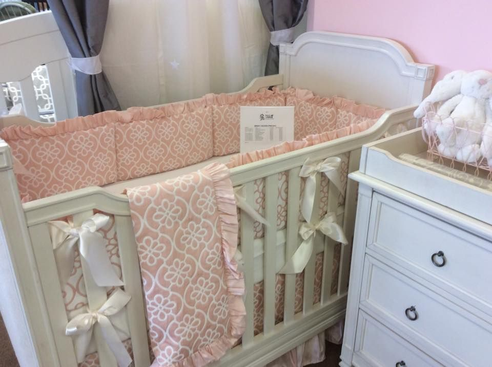Pink Hollyhock Floral Crib Bedding By Pine Creek On The Haven Crib At Babyu0027s  U0026 Kids Furniture In Houston, TX