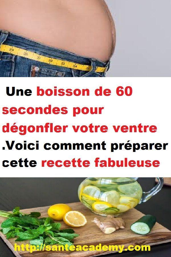 Une boisson de 60 secondes pour dégonfler votre ventre