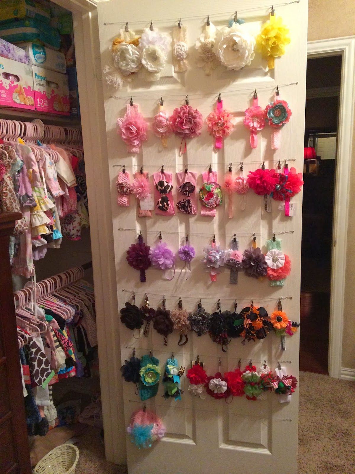 Bow Organization For A Little Girl Cleaning And