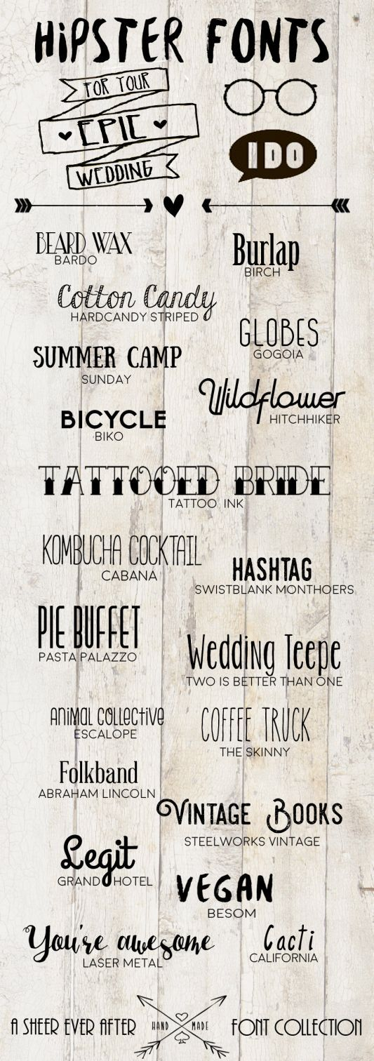 Free hipster wedding fonts #hipster #wedding #free #fonts