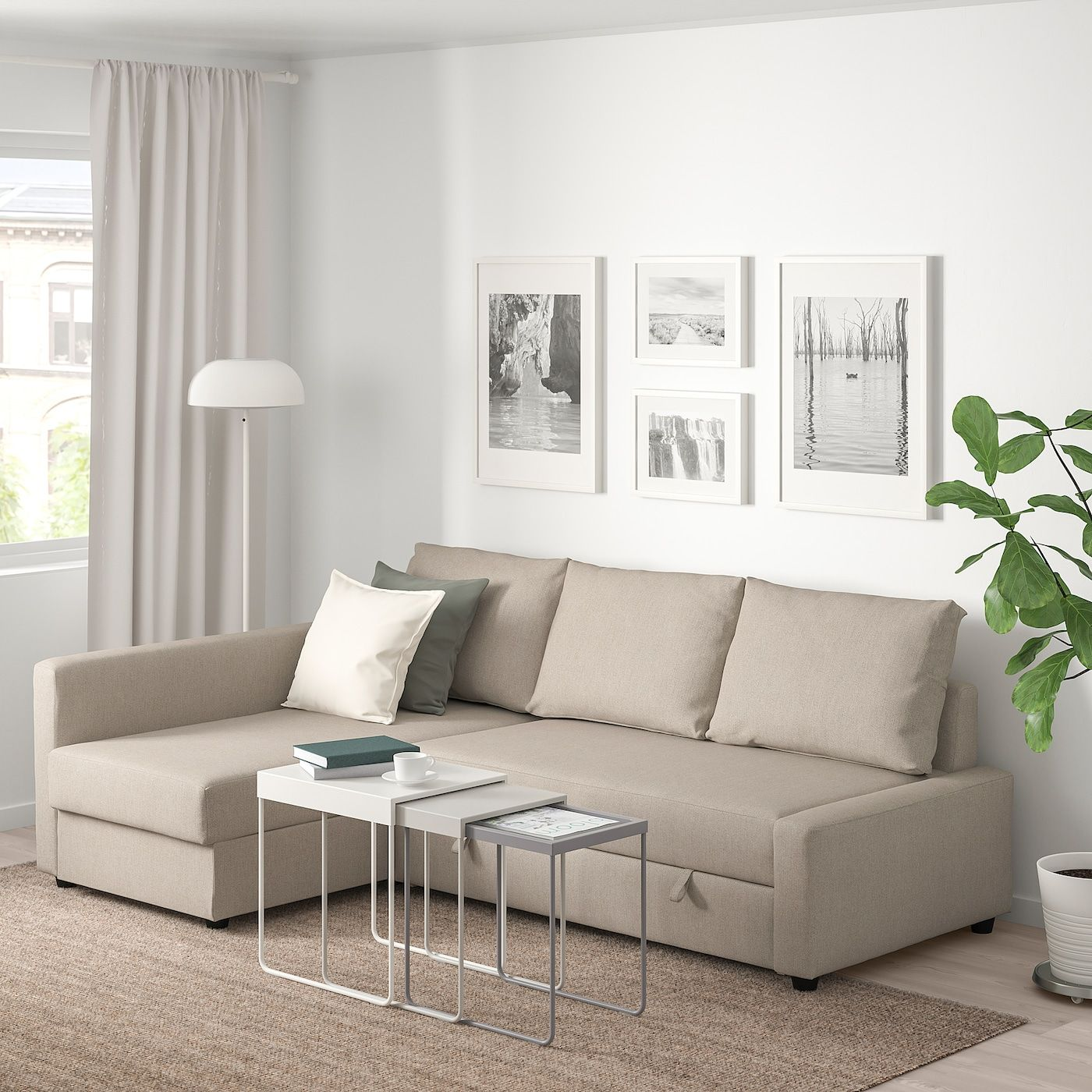 Admirable Ikea Friheten Corner Sofa Bed With Storage Hyllie Beige Pabps2019 Chair Design Images Pabps2019Com