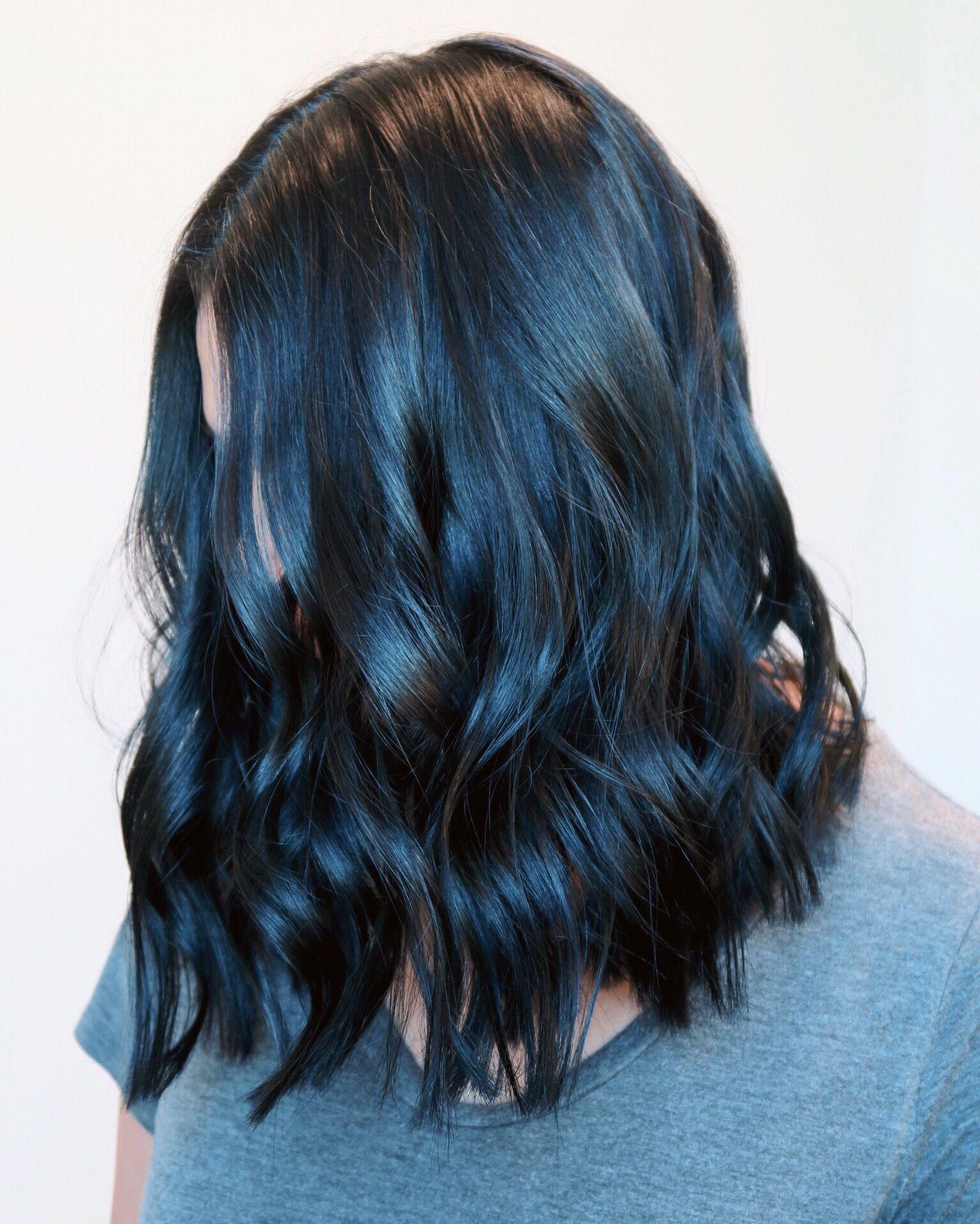 Matrix Blue Black Hair Color Coloringsite