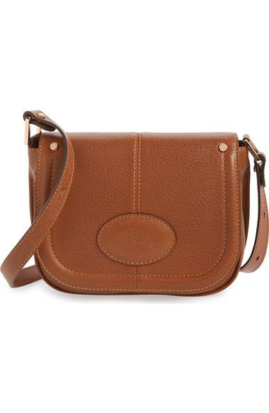 Longchamp 'Small Mystery' Leather Crossbody Bag - Cognac