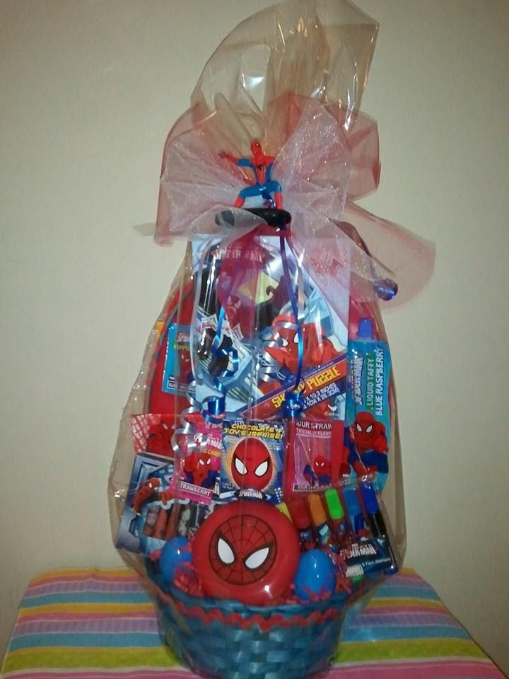 Spiderman easter basket cabe found at debs creations at www spiderman easter basket cabe found at debs creations at facebookdebscreationc2014 negle Choice Image