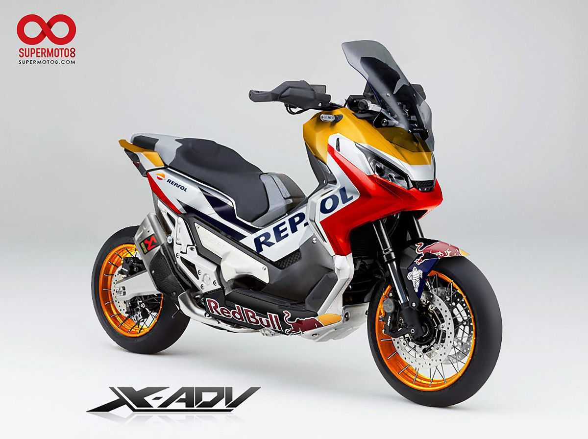 ... 。HONDA REPSOL X-ADV│紙上改車 | SUPERMOTO8 | Speed | Pinterest