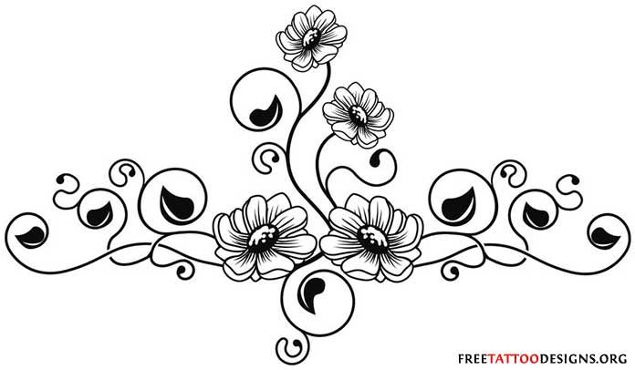 Tribal Tattoos for Girls | Flower Tattoos | Floral, Lily, Lotus, Tropical, Sunflower Tattoo ...