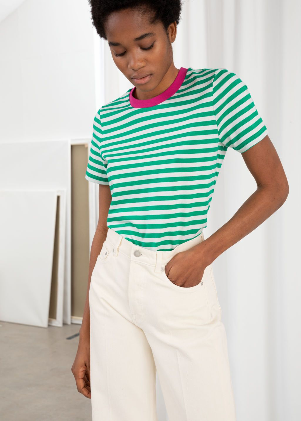 77544ef05a61e3 Striped Tee in 2019 | Spring2019 | Striped tee, Tees, Mens tops