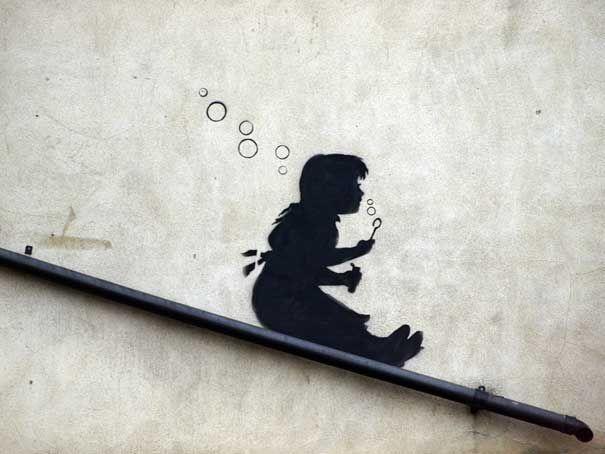 Taking on Marketing Like Banksy   Straßenkunst, Neue kunst und Hauswand
