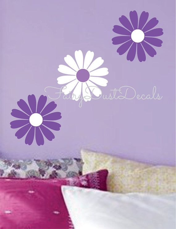 Superb Daisy Bloom Wall Decal LARGE Size 10x10 Choose Colors Dorm Room Teen Girl  Bedroom Decor Classic Great Pictures