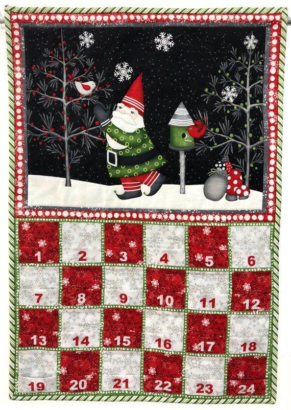 DIY Kit Winter Gnomes Advent/Calendar Panel 67570937 by