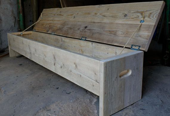 Custom Size Seating For Any Room Of The House This Rustic Bench Hides Ample
