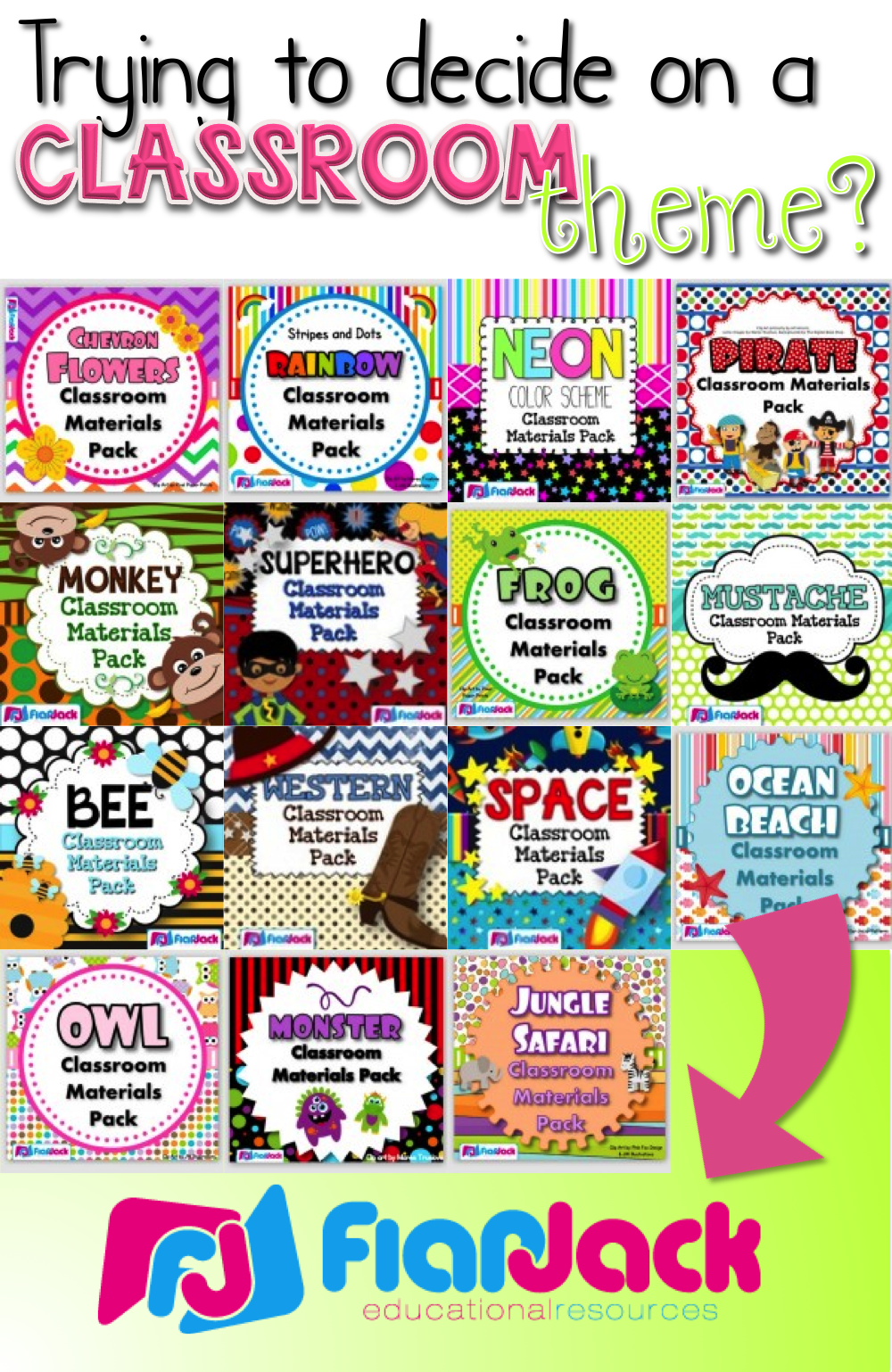 Over 15 classroom theme designs to choose from with loads of materials to  create a bright learning environment   684a484c970b0